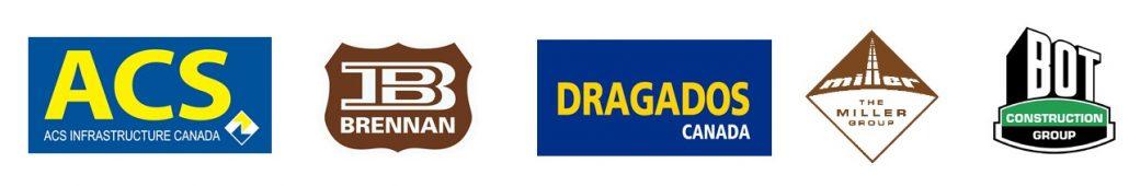 Les logos des enterprises de le consortium.